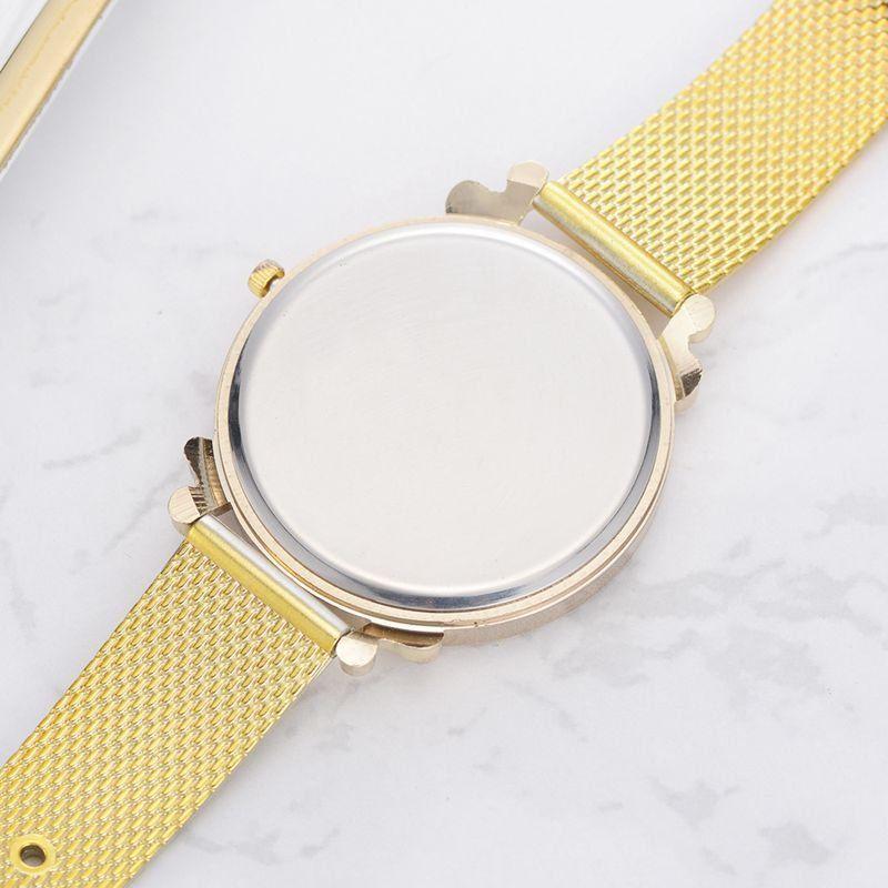 e774d503c Fashion Quartz Gold Watches Creative Round Dial Stainless Steel Strap  Wristwatches for Women online - NewChic