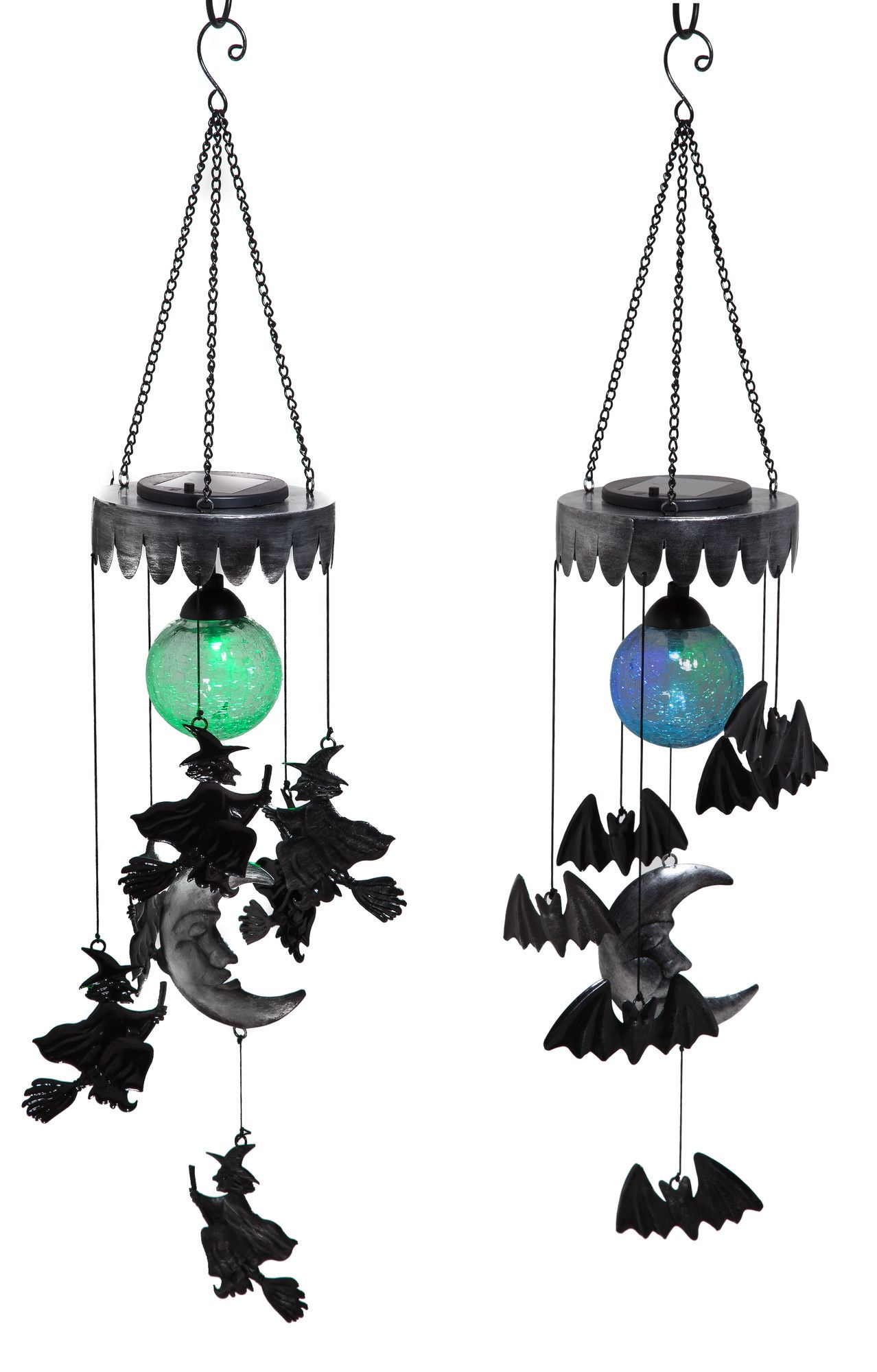 haunted halloween hanging solar mobile wind chime wayfair
