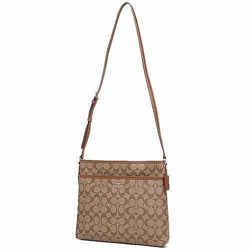 NWTCoach File Bag Signature Canvas Saddle Brown F34938 Crossbody Messenger Bag #Coach #ShoulderorCrossbody