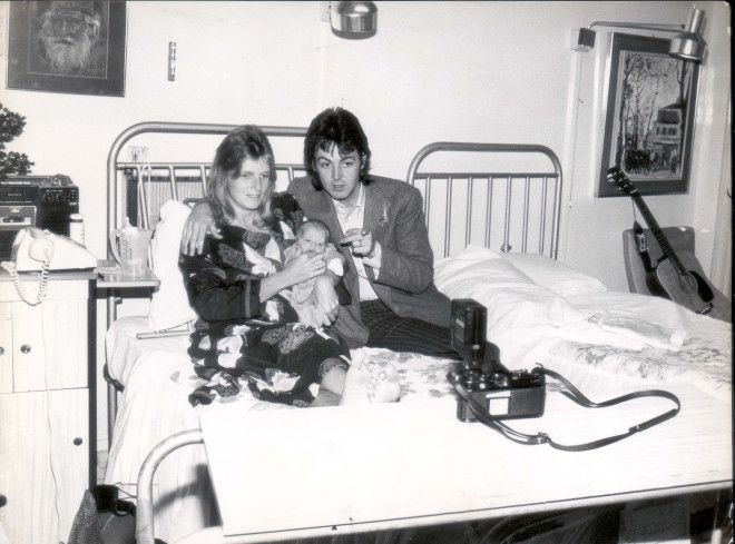 Paul McCartney And Wife Linda Take A Photo With Their Newborn Son James Louis Born On September 12 1977