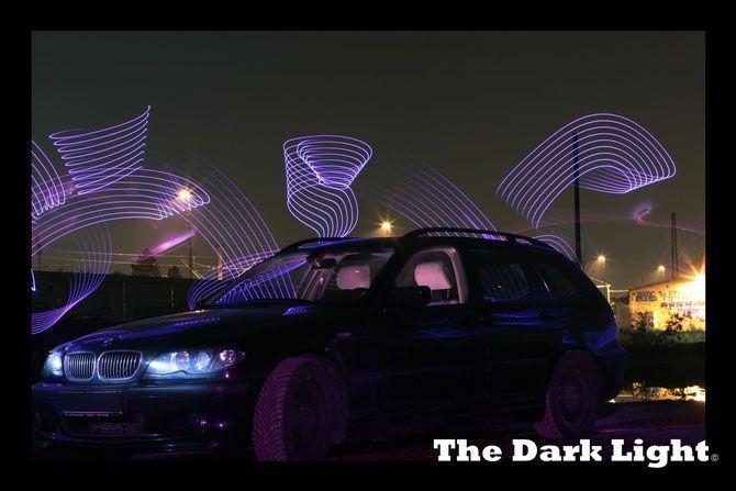 Light Painting, Lightpainting, Lichtmalerei, BMW, Car, Auto, Wald, Forest,  The Dark Light, LED, Schweif, LED Strip, Tunning, Video Projektion