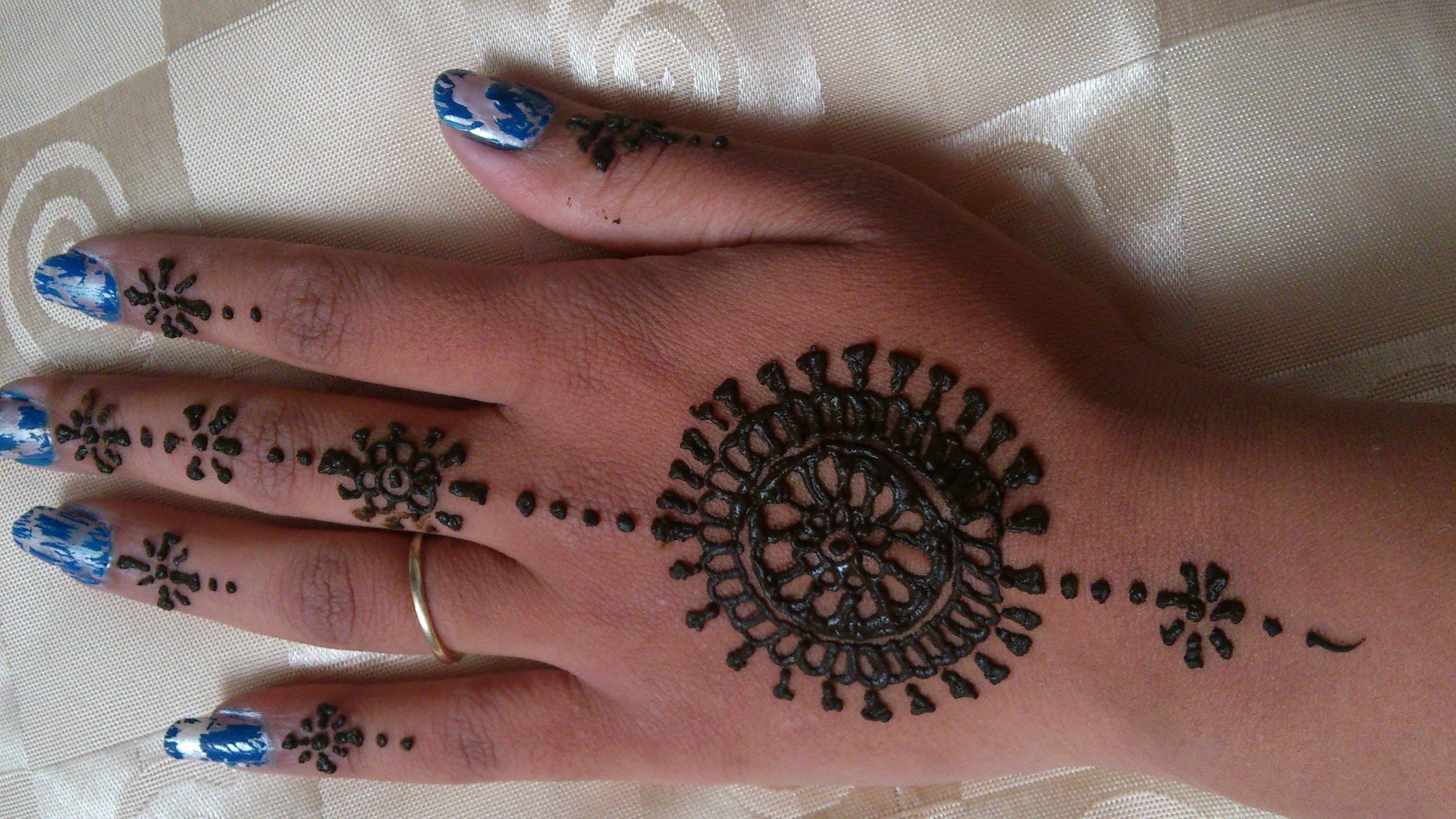 Easy Henna Designs Step By Step For Beginners: Simple Henna Designs For Beginners Step By Step