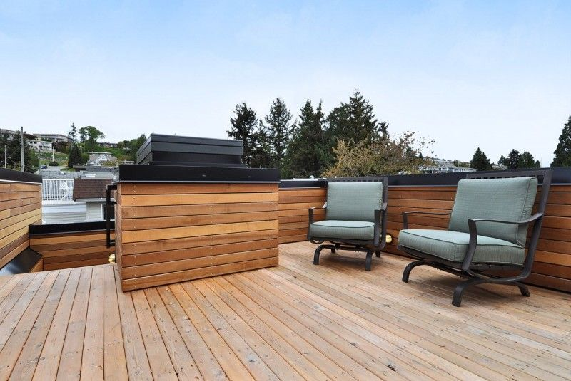 Modern Sustainable House in Canada: Gorgeous Rooftop Deck Design At ...