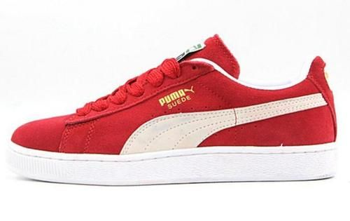 Puma Classic Suede Sneakers Red White  - Puma Shoes