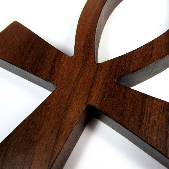Ankh Cross / MID SIZE / Egyptian Symbol / Life / Walnut Wood  PLEASE NOTE: This is a smaller version of the same design wall hanging that is in