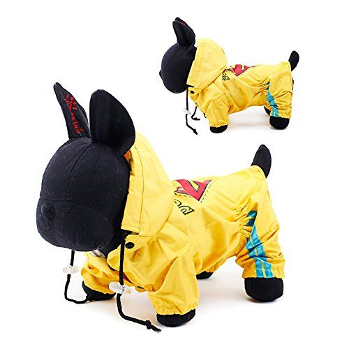 PETCIRCLE Design-Cute Handsome Superman Raincoat for Small-Large Dog Puppy >>> Unbelievable dog item right here! : Dog coats
