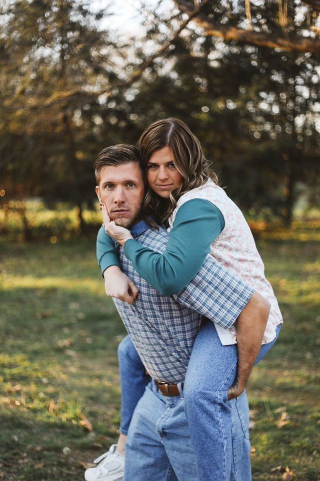 This Couple's 'Awkward' Engagement Photos Are Everything