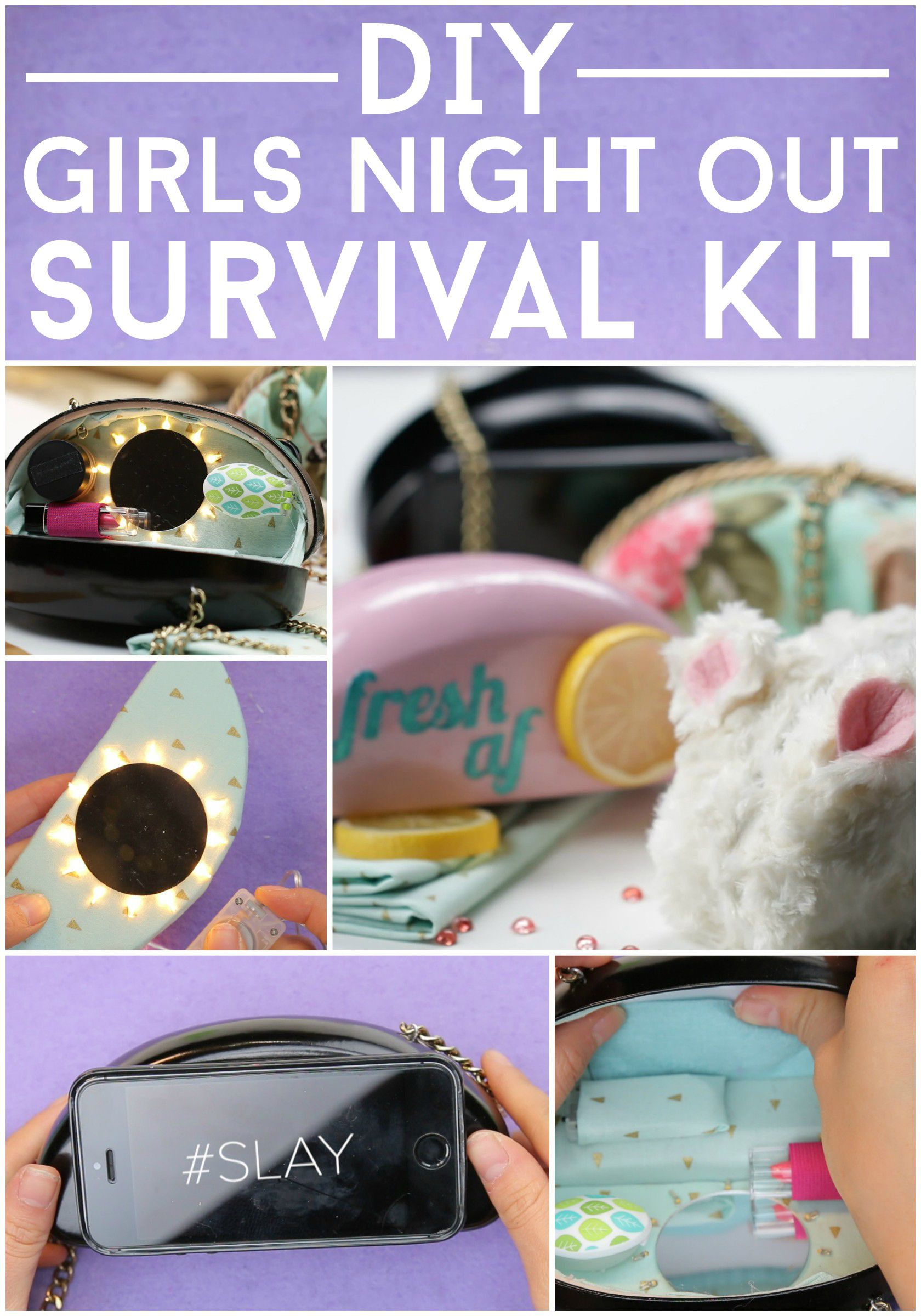 DIY Girls Night Out Survival Kit by Nifty | Nifty Hacks | Pinterest ...
