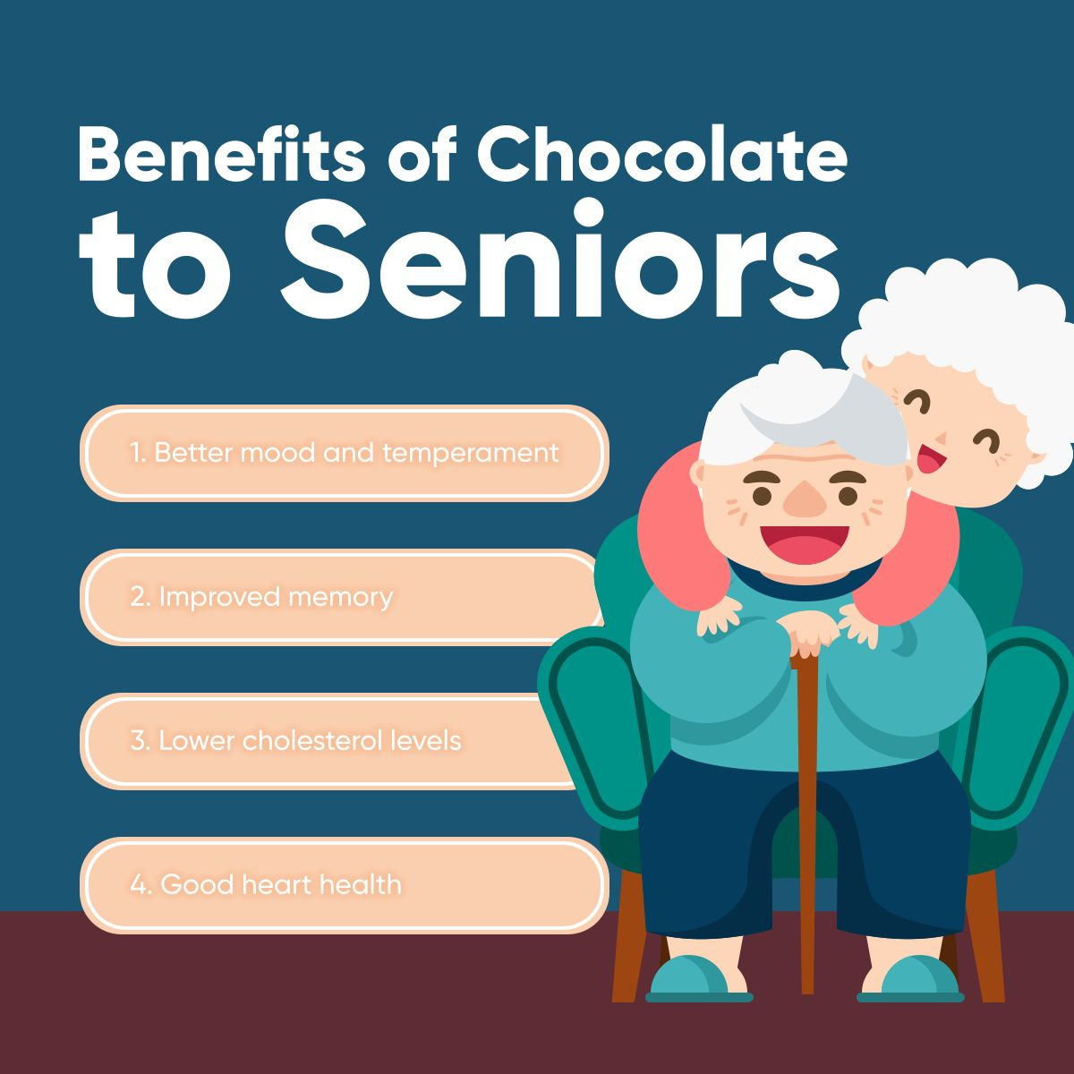 Benefits of Chocolate to Seniors Seniors