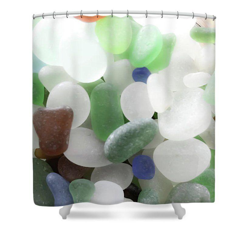 Sea Glass Shower Curtain Seaglass Shower Curtains Bathroom Decor