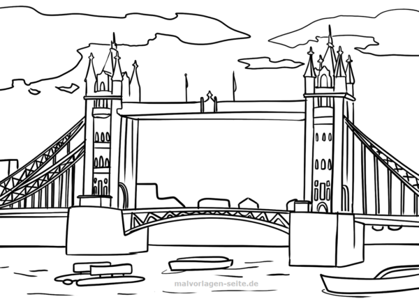 Malvorlage London Tower Bridge Coloring Pages