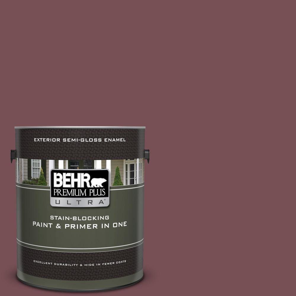 Behr Premium Plus Ultra 1 Gal 120f 6 Japanese Maple Semi Gloss Enamel Exterior Paint And Primer In One Exterior Paint Primer Behr