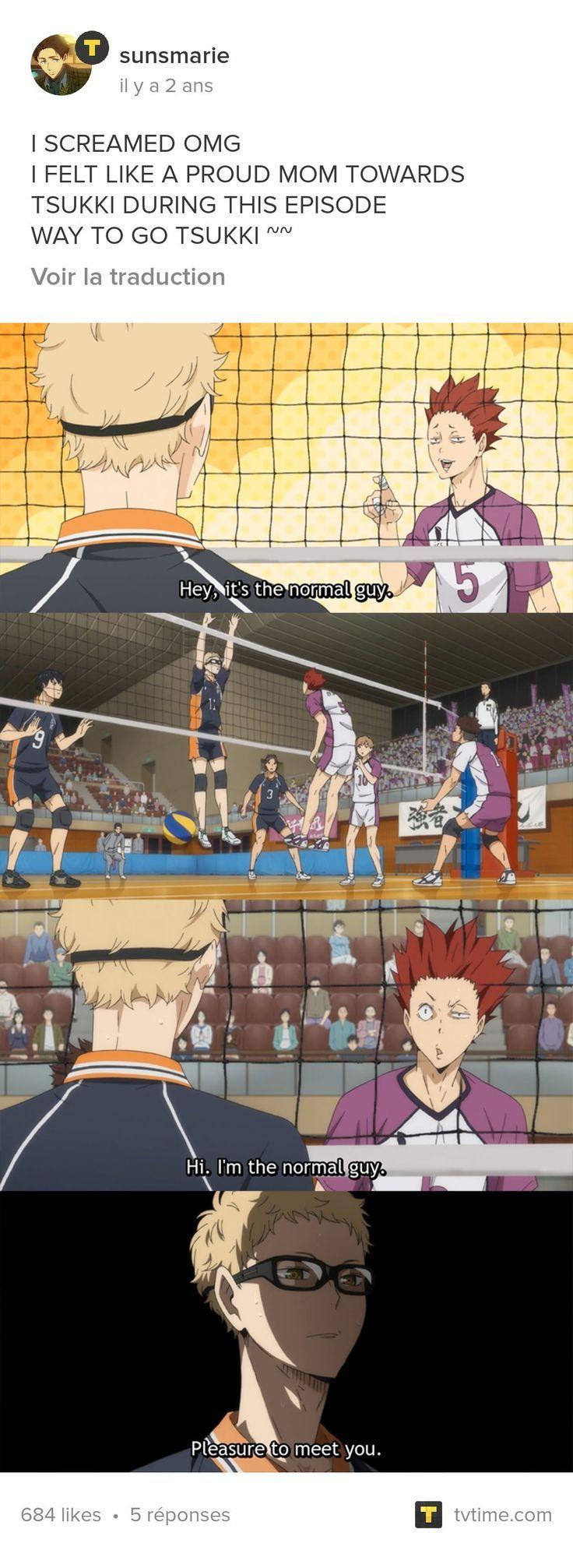 Never Mess With Tsukki He Always Has A Comeback Comeback Mess Tsukki Haikyuu Tsukishima Haikyuu Anime Haikyuu Funny