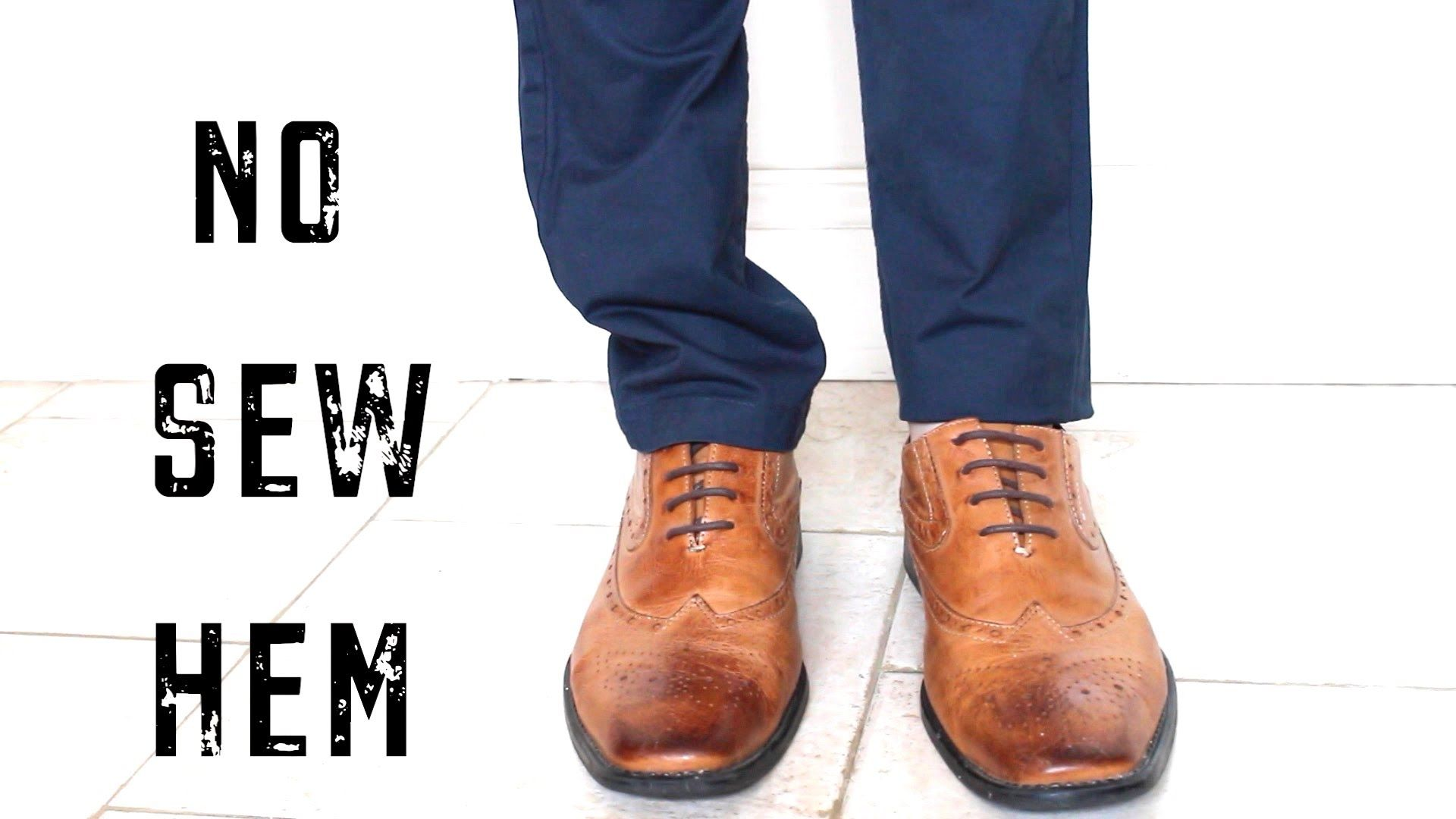 HOW TO EASILY HEM PANTS FAST NO SEW LIFE HACK Cheap