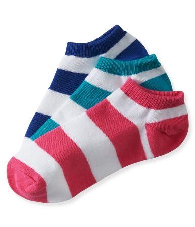 098e3fa2f5191 3-Pack Rugby Stripe Ped Socks | socks in 2019 | Socks, Sock leggings ...