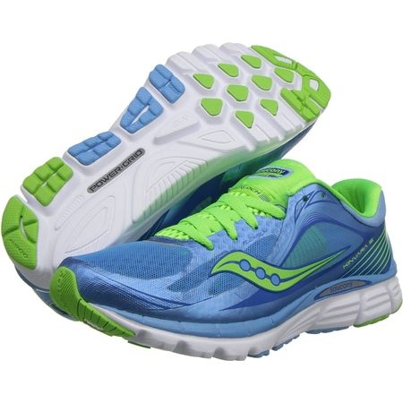 Saucony Kinvara 5 - my newest pair of running shoes. Super comfortable with  great support.