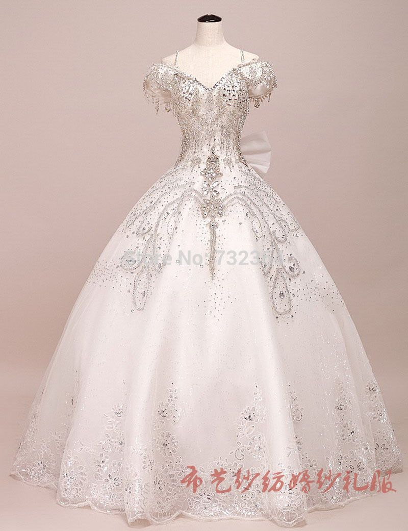 Full rhinestone beading princess medieval ball gown for Vintage ball gown wedding dresses
