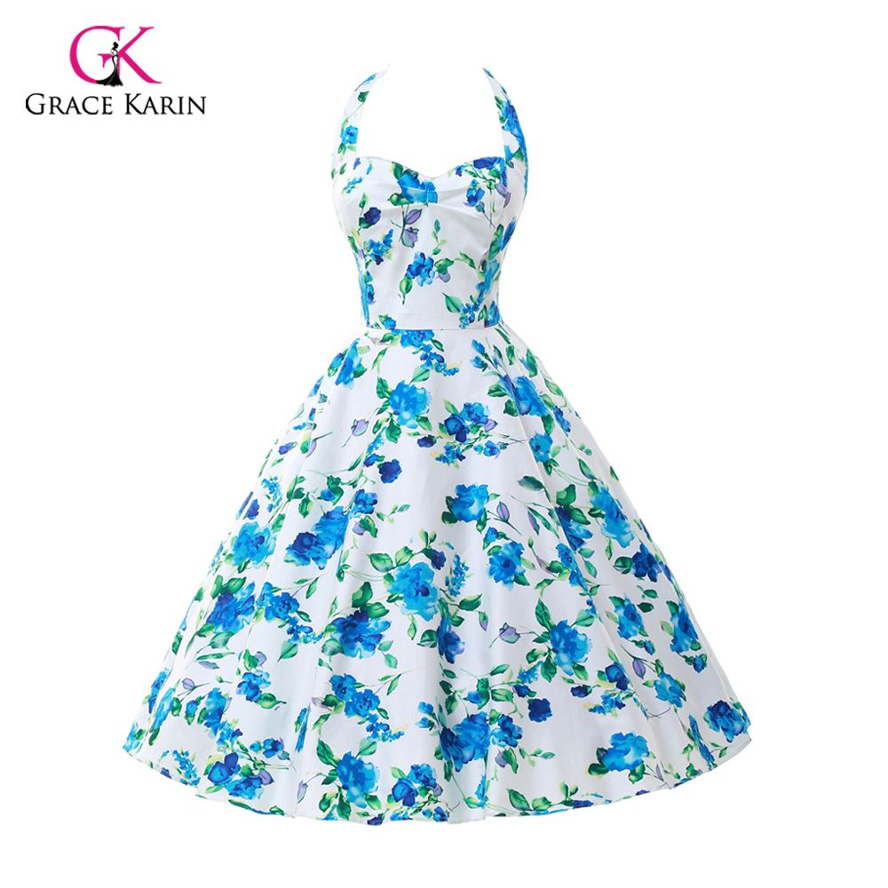 Womens Summer Style 50s 60s Vintage Audrey hepburn pin up dresses ...