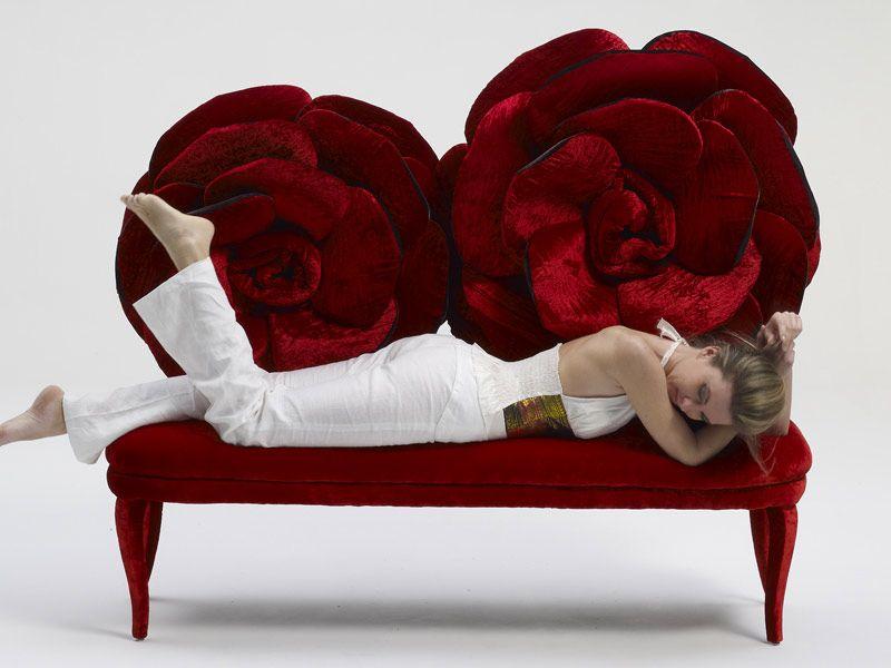 Divano In Velluto A 2 Posti MOI ET LA ROSE Collezione Sicis Next Art  Chapter 1 By Sicis