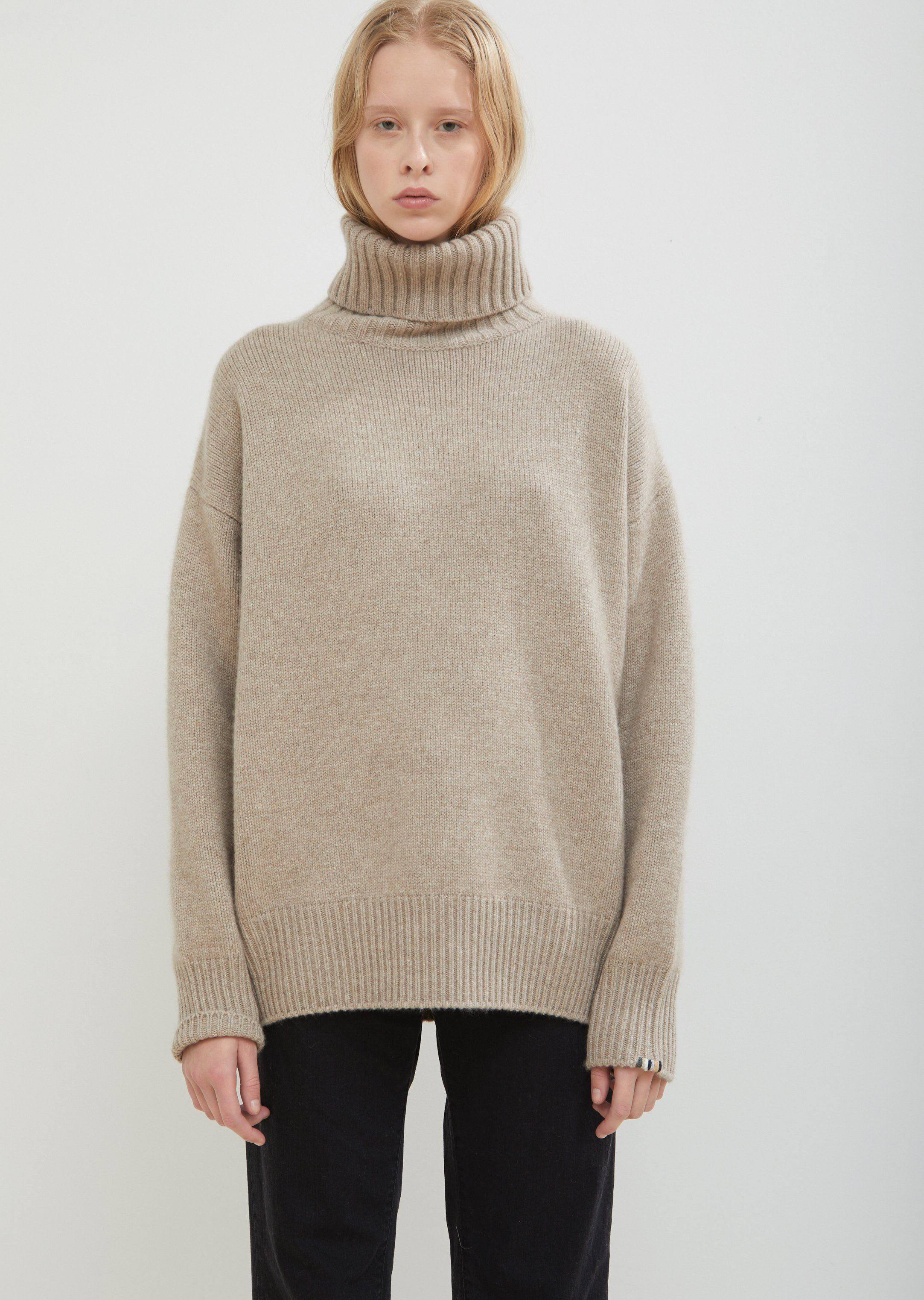 73ebb3895 Oversize Xtra Cashmere Roll Neck Sweater - One Size   Oat