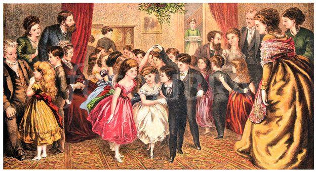 Victorian Christmas Children Dancing Victorian Christmas Kids Dance Christmas Dance