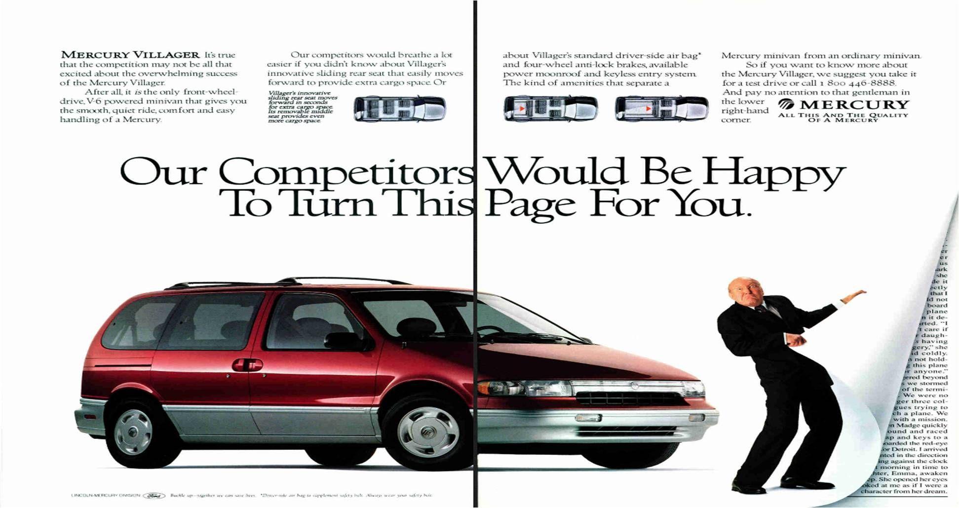 1994 Mercury Villager Ad Retro Cars Car Advertising Car Ads