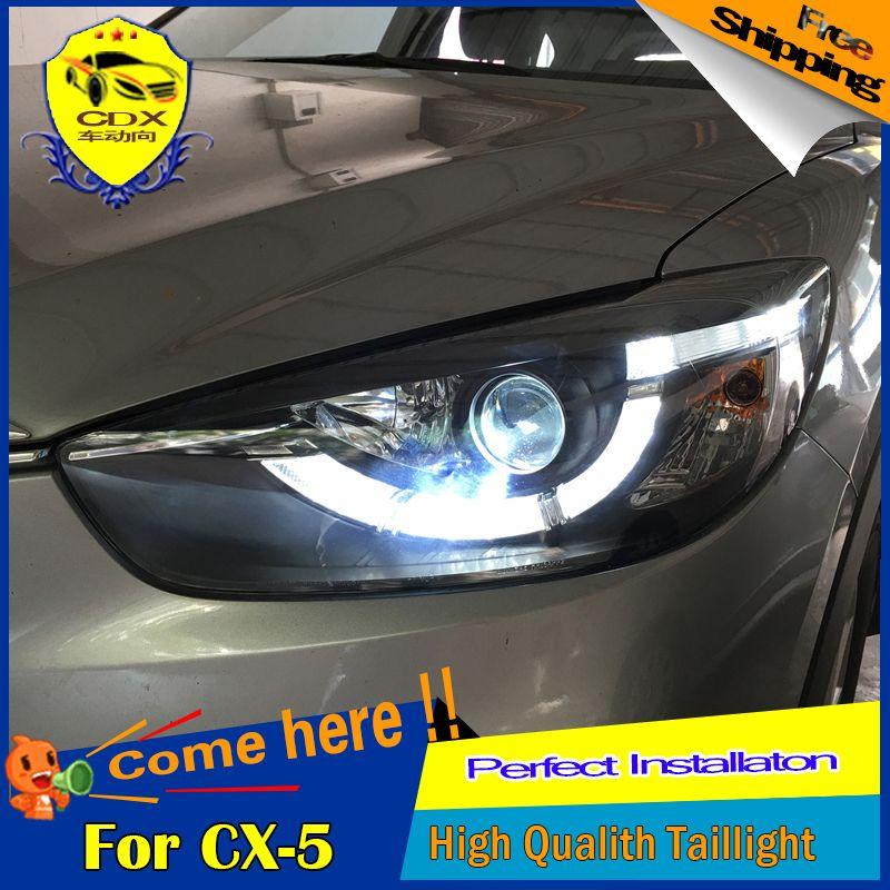 Cdx Car Styling For Mazda Cx 5 Headlights 2013 2015 Led Headlight Head Lamp Drl Bi Xenon Lens High Low Beam Parking Fog Lamp Car Lights Fog Lamps Headlamp