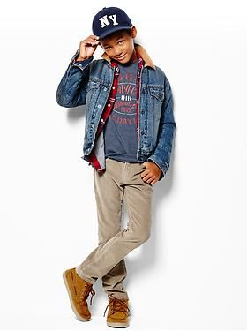 Kids Clothing: Boys Clothing: Featured Outfits New Arrivals | Gap  40% off online purchases only!  Ends today!  Code SHOP