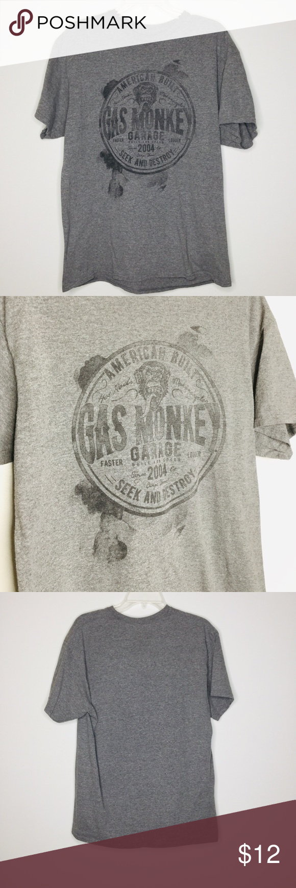 "Gas Monkey Garage Tee * Size L * Pit to pit 20"" * Length 28"" * Front Graphics * Gray ** Preowned  / Great Condition   ♻️ - U Gas Monkey Garage Shirts Tees - Short Sleeve #gasmonkeygarage Gas Monkey Garage Tee * Size L * Pit to pit 20"" * Length 28"" * Front Graphics * Gray ** Preowned  / Great Condition   ♻️ - U Gas Monkey Garage Shirts Tees - Short Sleeve #gasmonkeygarage"
