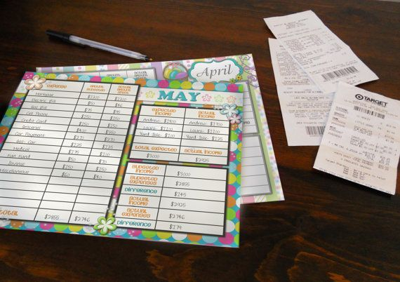Printable Budget Worksheets Set of 12 by DarlingDoodle on Etsy - how to create a budget spreadsheet in google docs