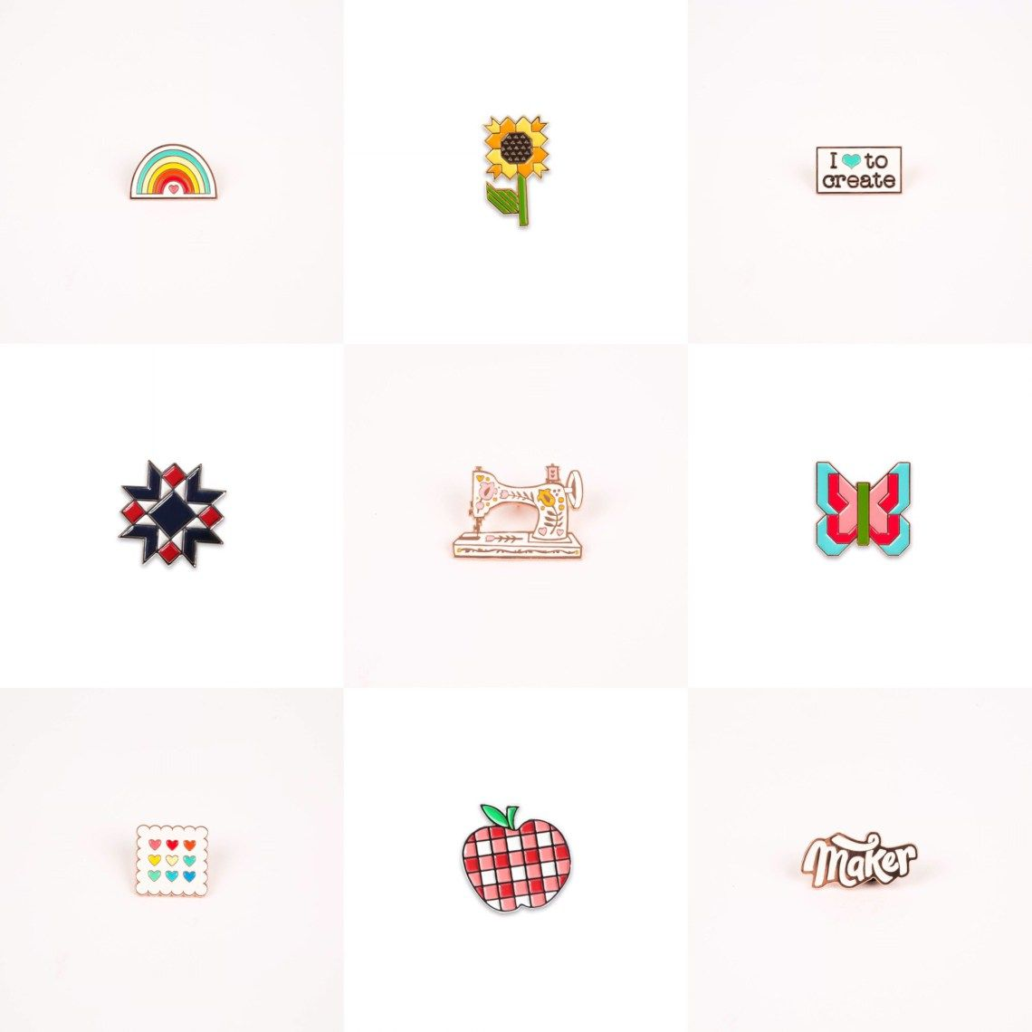 Quilting and Sewing Enamel Pins by Maker Valley on Diary ...