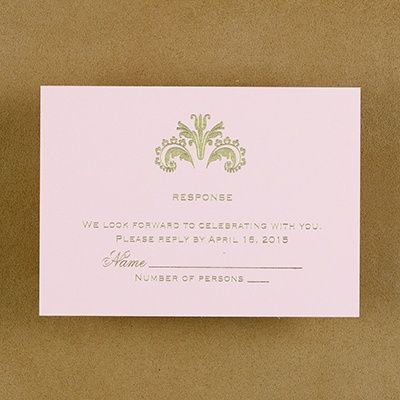 Ambrosia - Respond Card and Envelope - Pink