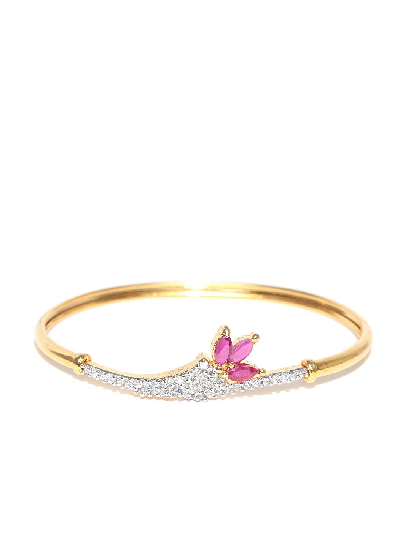 Zaveri pearls goldplated cz stonestudded bracelet women