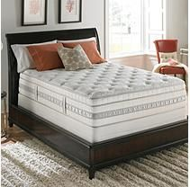 Serta Perfect Sleeper Meadowfield Plush Mega Eurotop Mattress Set - Cal King - Low Profile Boxsprings
