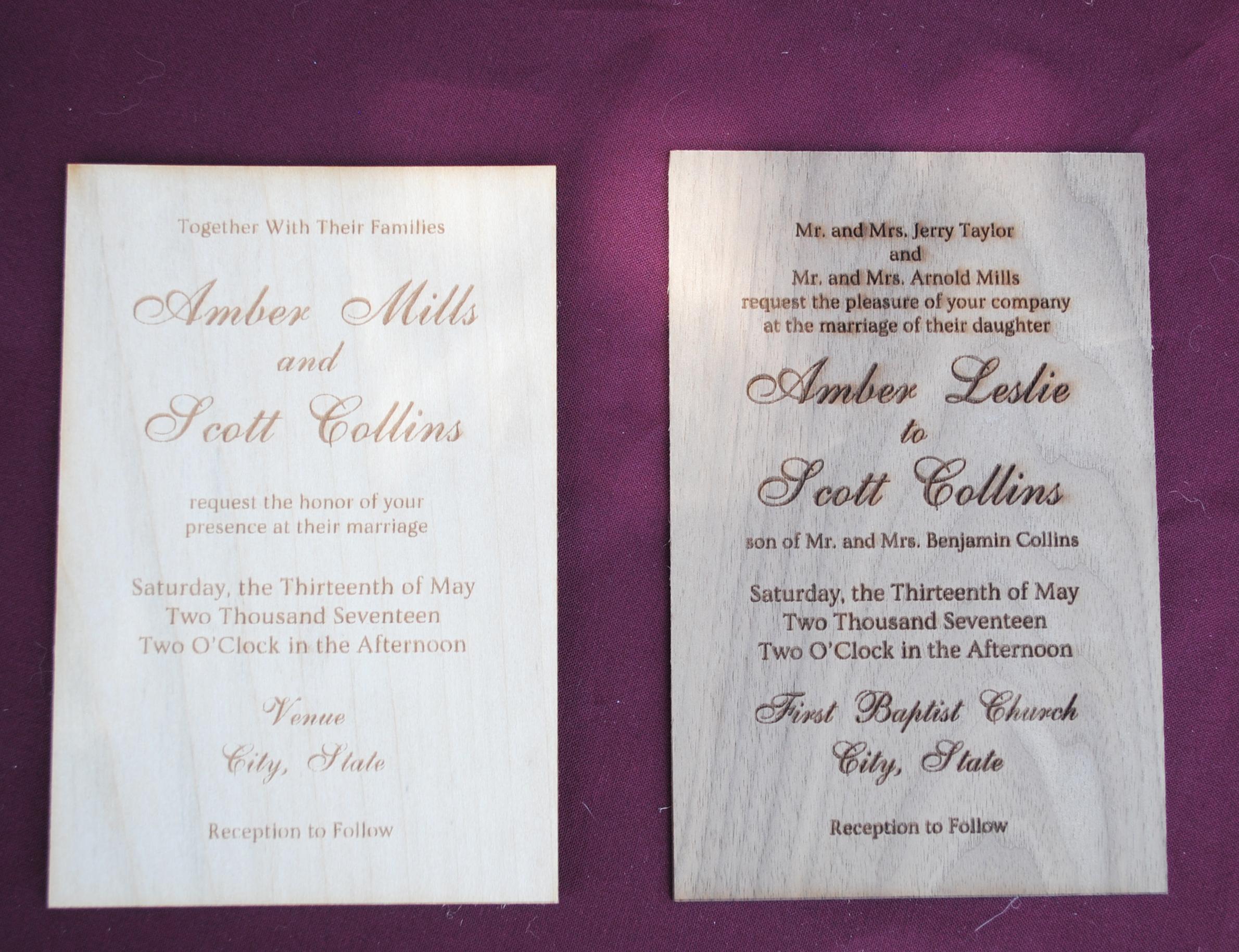 Wood Wedding Invitations on Wine | Rustic Glam | Pinterest ...