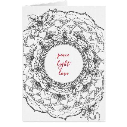 Mandala Holiday Card - christmas cards merry xmas family party