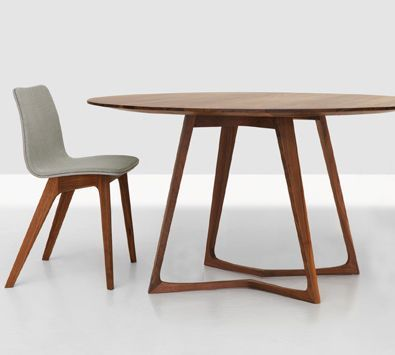 zeitraum germany twist round and oval table in solid wood diameter120cm height - Round Solid Wood Dining Table