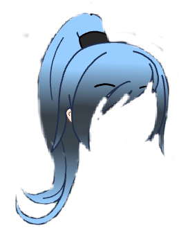 Freetoedit Hair Gachalife Ponytail Blue Fade Black Remixit Chibi Hair Cute Anime Chibi Anime Hair