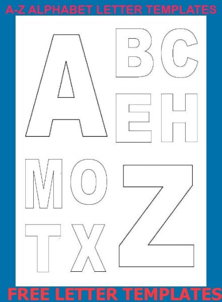 Free Alphabet Letter Templates For Each Letter Of The Alphabet