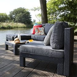 Salon de jardin modulable NEVADA Graphite | Outdoor ...
