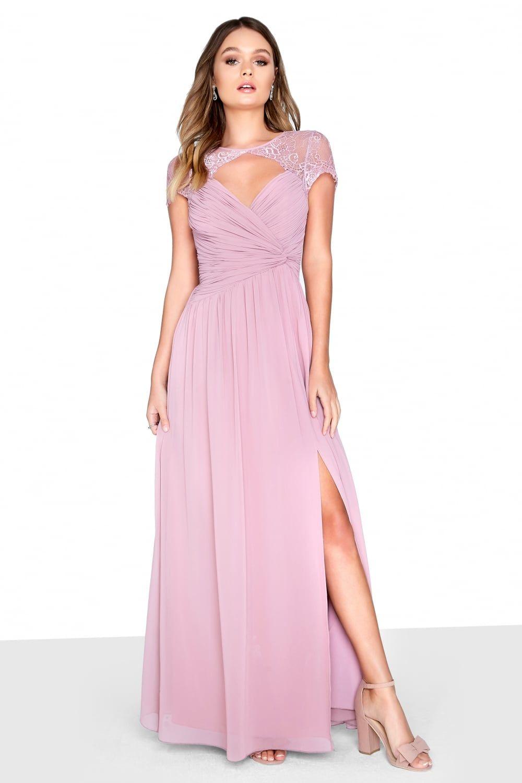 bb9d4ef649dfe Little Mistress Blush Wrap Maxi Bridesmaid Dresses, Wedding Dresses,  Bridesmaids, Mistress, Blush