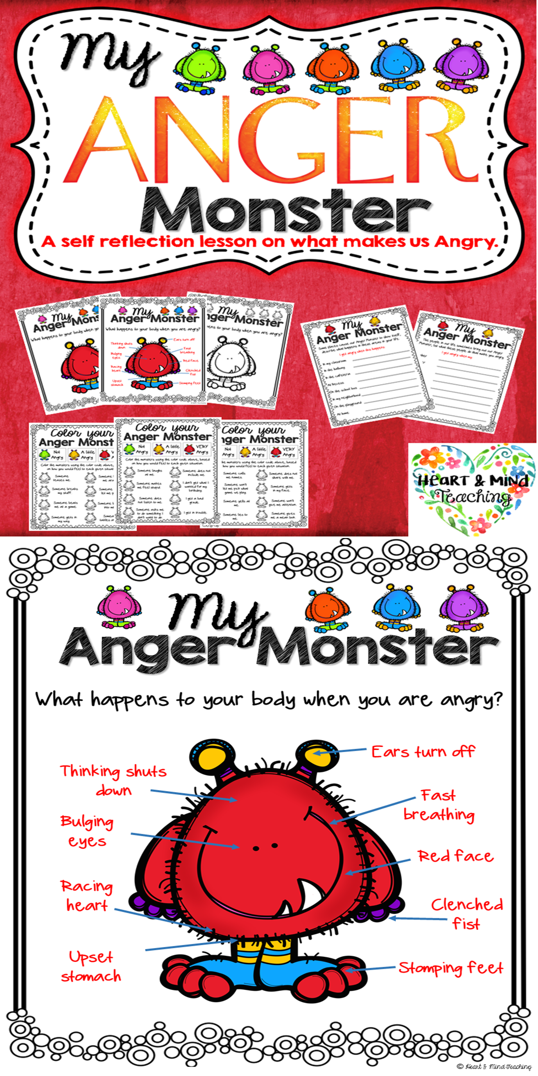 My Anger Monster An Anger Management Activity