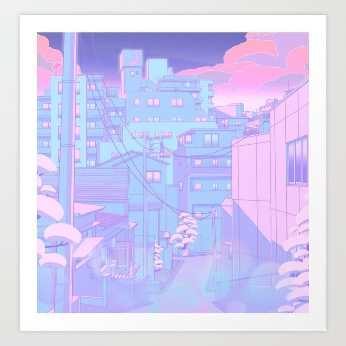 Moonlight City Art Print by Elora Pautrat - X-Small