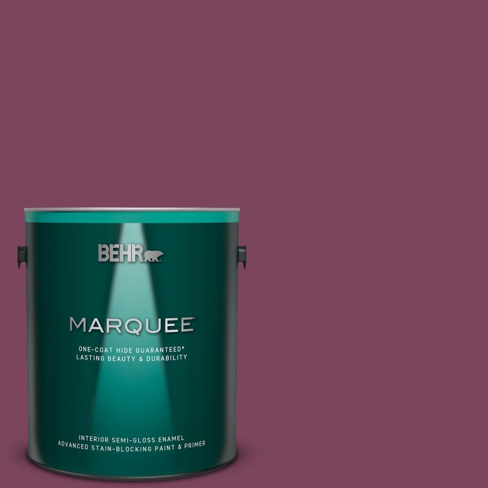 Behr Marquee 1 Gal T17 14 Artful Magenta Semi Gloss Enamel Interior Paint And Primer In One Behr Marquee Interior Paint Behr Marquee Paint