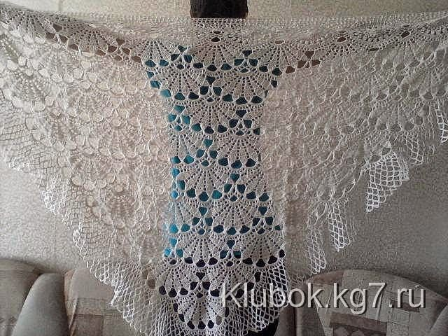 Patrón de shawl con forma de triángulo para tejer con ganchillo ...