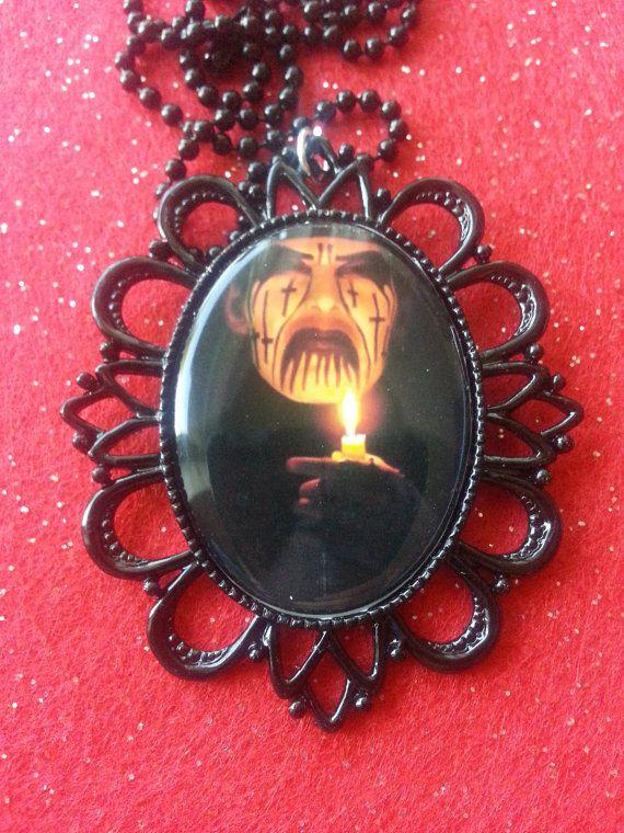 king diamond oval pendant by MissMaysCreations on Etsy, $13.00