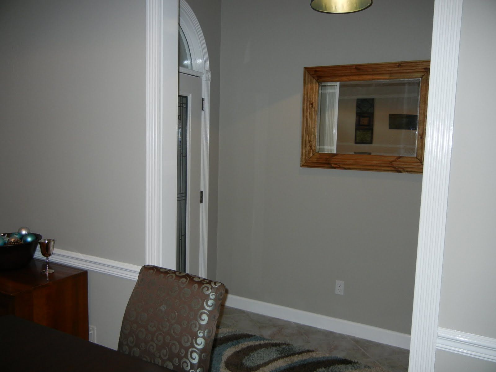 A Real Crazy Life The Easiest Color Choice EVER Amazing Gray Sherwin Williams GrayDining Room
