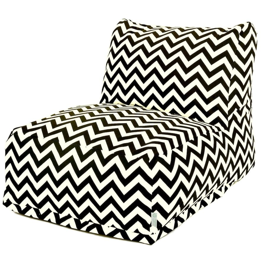 Astounding Majestic Home Goods Chevron Indoor Outdoor Beanbag Chair Pabps2019 Chair Design Images Pabps2019Com