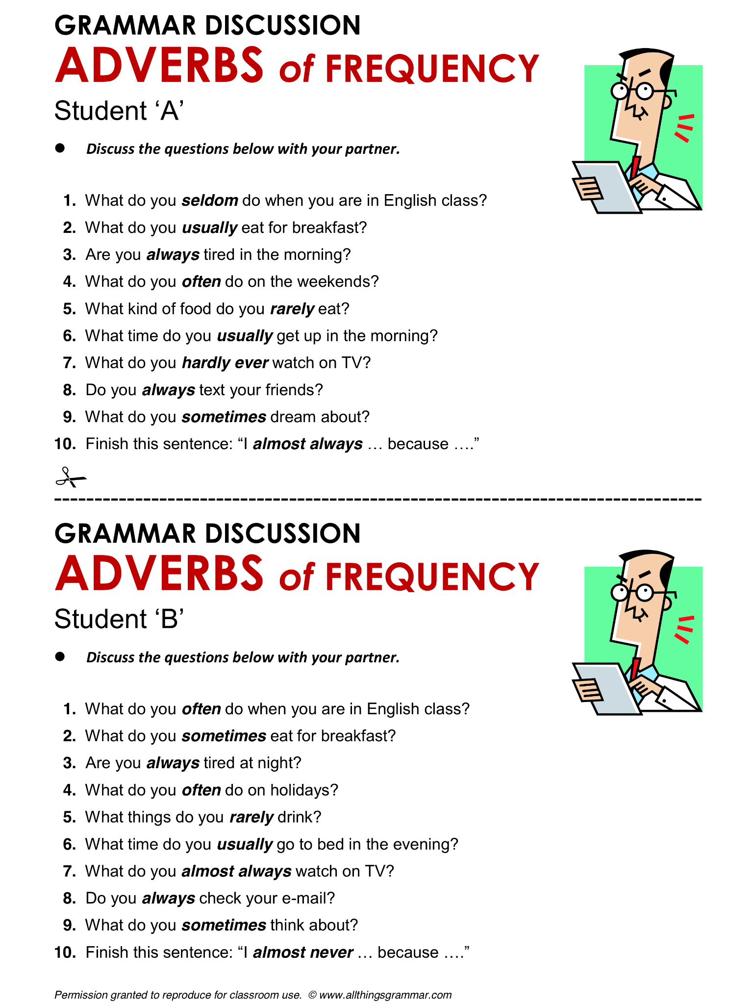 English Grammar Adverbs Of Frequency Lthingsgrammar