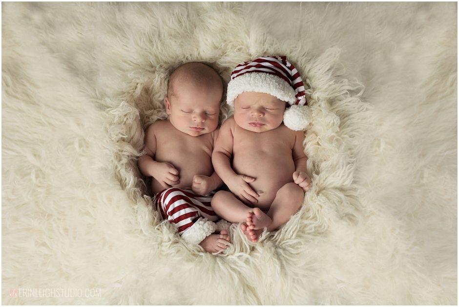 Twin christmas newborn photos boy newborn twin photos boy twins erin leigh studio kansas city newborn photographer kansas city twin newborn